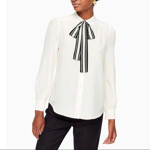 NWT Kate Spade Tie Front Blouse